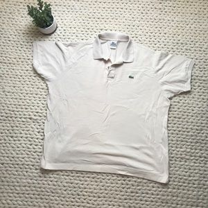 Lacoste Men's cream polo